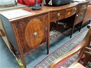 Sale 8834 - Lot 1051 - Mahogany and Inlaid Sideboard (key in office)