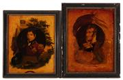 Sale 8873A - Lot 97 - A pair of C19th behind glass printed and coloured portraits of Lord Rowland Hill and Sir William Sydney Smith, of Australian interest