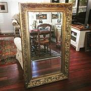 Sale 8878T - Lot 49 - French Ornate Gilt Timber Bevelled Glass Mirror Dimensions of Frame - 128.5cm x 79cm