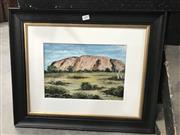 Sale 9016 - Lot 2091 - L. Clark Ayers Rock, oil on card, 46 x 56 cm, signed lower right
