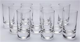Sale 9099 - Lot 194 - A set of ten tall tumblers, one chipped to rim, Height 16cm