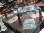Sale 7932A - Lot 1172 - Pair of Glass Top Coffee Tables
