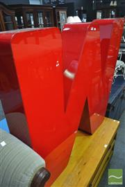 Sale 8277 - Lot 1026 - Letter M or W Light Box