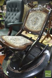 Sale 8323 - Lot 1036 - Rocking Chair with Tapestry Seat