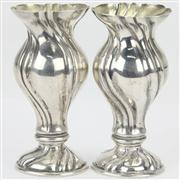 Sale 8379 - Lot 49 - Austro-Hungarian 800 Standard Pair of Vases