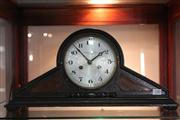 Sale 8379 - Lot 140 - Angus & Coote Ltd Timber Mantle Clock