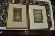 Sale 8441T - Lot 2030 - Pair of Indo-Persian Miniature Paintings, various sizes