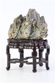 Sale 8806 - Lot 9 - Large Chinese Scholars Rock on  Stand, Height including stand; 25cm