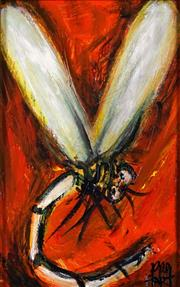 Sale 8830 - Lot 518 - Kevin Charles (Pro) Hart (1928 - 2006) - Dragonfly, c1980s 16 x 10cm