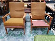 Sale 8930 - Lot 1085 - Pair of Vintage Lounge Chairs with Paddle Arms