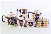 Sale 8935 - Lot 63 - A Small Collection of English Imari Pattern Ceramics inc Teapots Jugs and Others