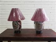 Sale 9080 - Lot 1066 - pair of royal satsuma elephant style table lamps