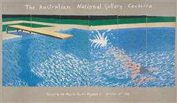 Sale 9125A - Lot 5024 - David Hockney - Exhibition Poster for Australian Naional Gallery, 1982 78 x 132 cm (frame: 108 x 158 x 4 cm)
