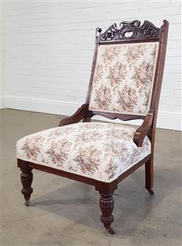 Sale 9215 - Lot 1488 - Early bedroom chair (h100 x d60cm)
