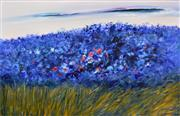 Sale 8401 - Lot 528 - Kim Kennedy (XX) - Field of Blue, 1998 175 x 270cm