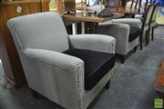 Sale 8406 - Lot 1196 - Pair of Ascot Racing Upholstered Tub Chairs