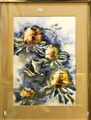 Sale 8794 - Lot 2032 - Terry Swann - Flowers watercolour, 71 x 54cm (frame), signed