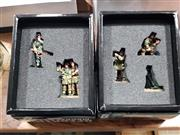 Sale 8817C - Lot 545 - K&C Figures (2); Mortar Team & SS Panzer Grenadier Guards Two Paratroopers