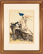 Sale 8873A - Lot 47 - A Victorian hand coloured print, Fight for the Standard