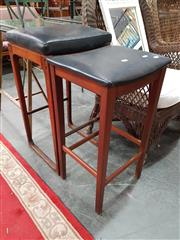 Sale 8904 - Lot 1083 - Unmatching Pair of Parker Style Stools
