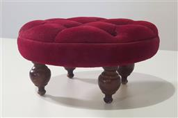 Sale 9188 - Lot 1483 - Red Footstool