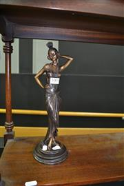 Sale 8046 - Lot 1005 - Bronze of Flapper