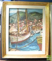 Sale 8503 - Lot 2001 - Artist Unknown - Harbour Scene 48 x 38.5cm