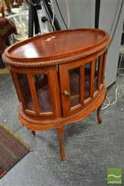 Sale 8515 - Lot 1024 - Vitrine Side Table