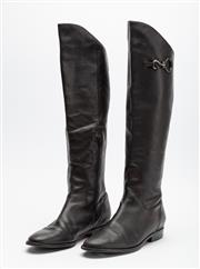 Sale 8661F - Lot 25 - A pair of Cole Haan x Nike Air knee-high leather boots, size 10B