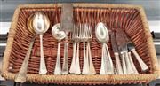 Sale 8838H - Lot 86 - An Austro-Hungarian silver deco cutlery set for six  comprising six knives, six forks, six spoons and servers. Total weight approx 1...