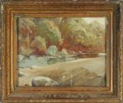 Sale 8870 - Lot 2017 - Artist Unknown - River Bank 33 x 43cm