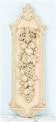 Sale 9040H - Lot 43 - A well moulded composite wall panel 1m height 30cm wide, slight chip to one corner