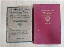 Sale 9176 - Lot 2364 - 2 Volumes by Lewis, H.S. Rosicrucian  Questions & Answers with Complete History of Rosicrucian Order; Rosicrucian Manual