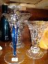 Sale 7383 - Lot 55 - Three crystal vases and a candlestick