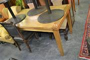 Sale 7987A - Lot 1266 - 150-240cm Russian Oak Ext. Dining table