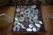 Sale 8129 - Lot 1066 - Crate colourful polished agate