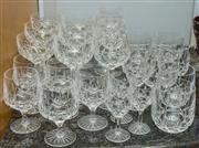Sale 8310A - Lot 151 - A large collection of cut crystal stemwares of good quality.