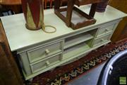 Sale 8532 - Lot 1442 - Painted Timber Entertainment Unit with Four Drawers