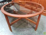 Sale 8607 - Lot 1024 - Round Glass Two Tier Coffee Table