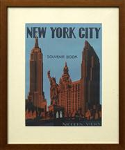 Sale 8716 - Lot 2070 - Artist Unknown - New York: The Metropolis of America 32.5 x 23.5cm (frame: 47.5 x 39cm)
