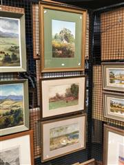 Sale 8726 - Lot 2080 - Three English and Australian Country Scenes by A Sinclair, framed and various sizes