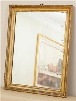 Sale 9165H - Lot 112 - A water guilded rectangular mirror, 69cm x 54cm