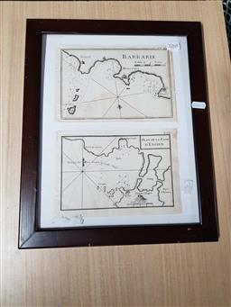 Sale 9176 - Lot 2268 - Two C18th engraved maps