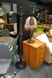 Sale 8019 - Lot 1033 - Barley Twist Standing Lamp w Another