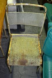 Sale 8093 - Lot 1518 - Pair Of Metal Industrial Chairs