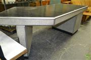 Sale 8235 - Lot 1054 - Good Metal Framed 1950s Desk with Elbow Turn and Single Pedestal
