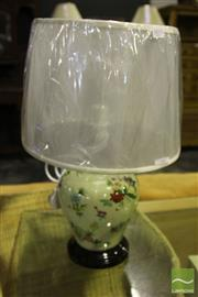 Sale 8499 - Lot 1035 - Pair Of Floral Design Table Lamps