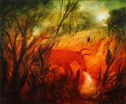 Sale 8526 - Lot 544 - Kevin Charles (Pro) Hart (1928 - 2006) - The Angry Red Steer, 1979 48.5 x 58.5cm