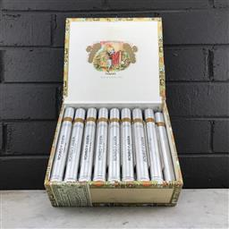 Sale 9089W - Lot 1 - Romeo y Julieta Churchills Anejados Cuban Cigars  - box of 25 tubos, stamped March 2007, with slip cover
