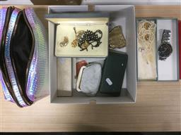 Sale 9152 - Lot 2579 - Dress Jewellery with Pupa Butterfly Makeup Set, Glomesh Style Purses & Cigarette Holder